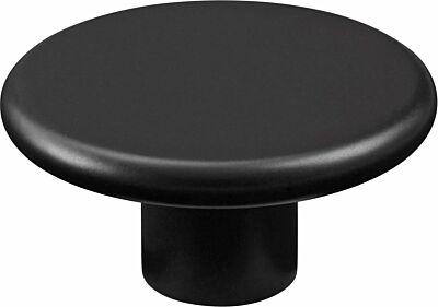 Knop rond 50mm zwart