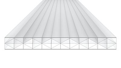 Polycarbonaat helder 16mm 1200x4000mm