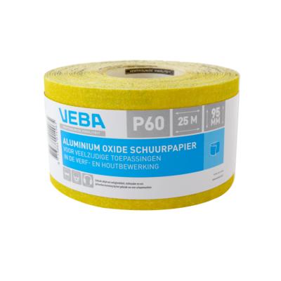 Veba schuurpapier rol 95mmx25mtr Aluminium oxide P60