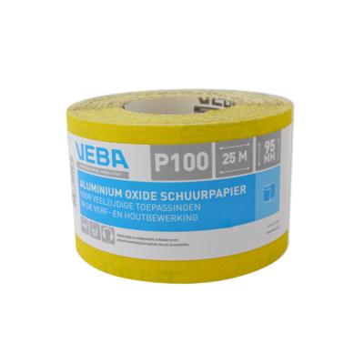Veba schuurpapier rol 95mmx25mtr Aluminium oxide P100