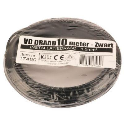 VD-draad 1,5mm² zwart 10 meter