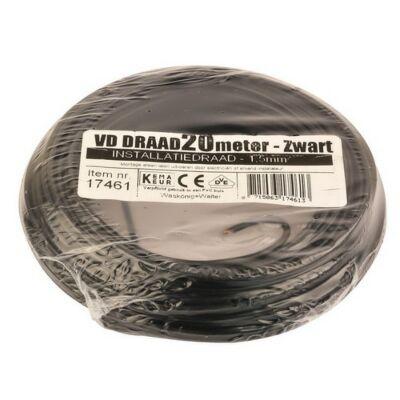 VD-draad 1,5mm² zwart 20 meter