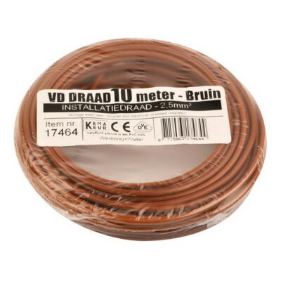 VD-draad 2,5mm² bruin 10 meter