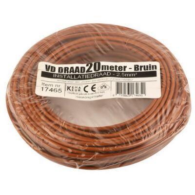 VD-draad 2,5mm² bruin 20 meter