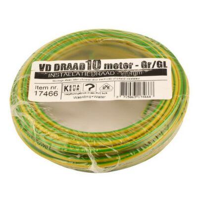 VD-draad 2,5mm² geel/groen 10 meter
