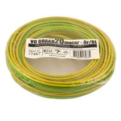 VD-draad 2,5mm² geel/groen 20 meter