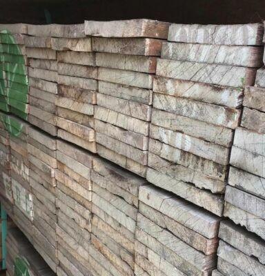 Hardhout ruw 20x150 350cm