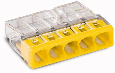 Lasklem 5-polig transparant/geel 5x0.5-2.5