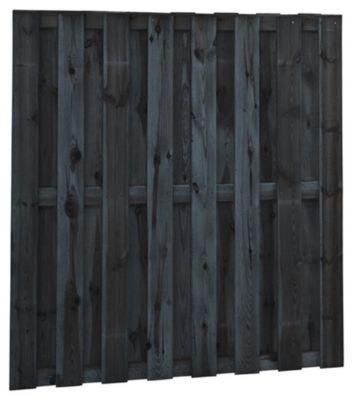 Plankenscherm zwart 180x180cm