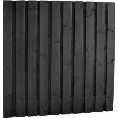 Plankenscherm zwart 21-planks 180x180cm