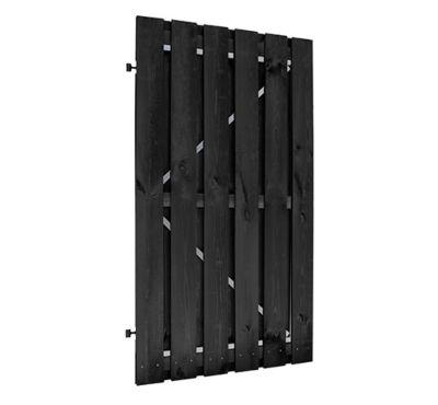 Plankendeur zwart 100x180cm