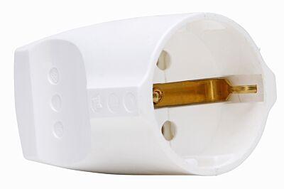 contrastekker 3x1,5mm 16/250V helder wit