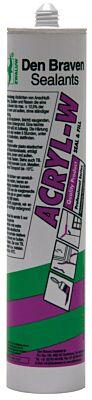 Den Braven zwaluw acryl-w wit 310ml