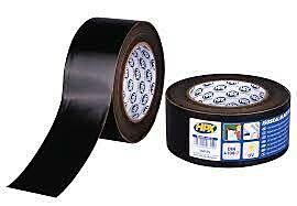 UV-Bestendige pe tape zwart 60mm 25mtr