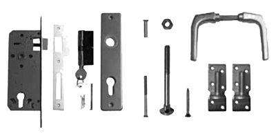 Aluminium deurklink tbv deur op stalen frame