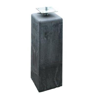 Betonpoer antraciet met afgeronde kant 18x18x50cm