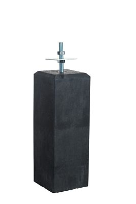 Betonpoer antraciet met vellingkant 18x18x50cm
