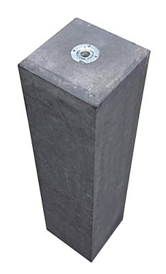 Betonpoer antraciet 15x15x60