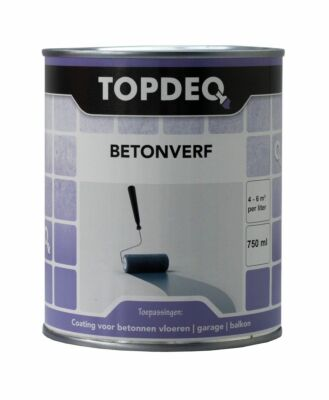 Topdeq betonverf basis wit 0,75liter