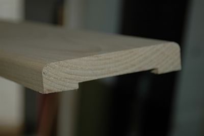 Beuken stofdorpel afm 23x120mm lengte 95cm