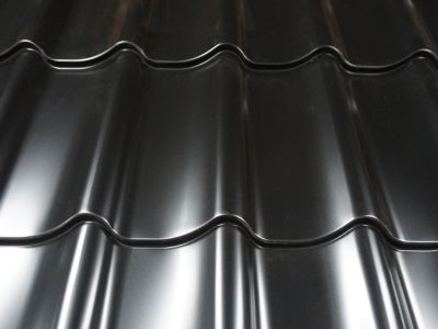 Dakpanprofielplaat zwart plastisol 115x213cm