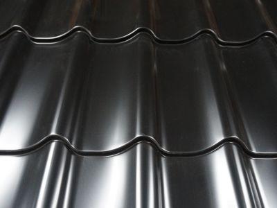 *Tijdelijk niet leverbaar*Dakpanprofielplaat zwart plastisol 115x250cm