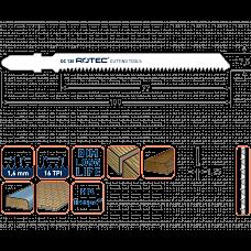 ROTEC DECOUPEERZAGEN DC130 / T101AIF (VPE 2 STUKS)