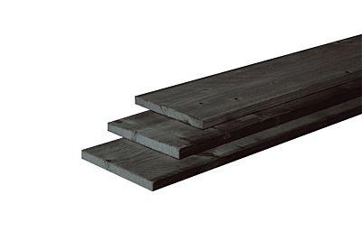 *Tijdelijk niet leverbaar*Douglas fijnbez plank zwart 22x200mm 400cm