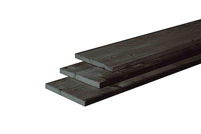 Douglas fijnbez plank zwart 22x200mm 500cm