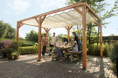 Douglas schaduwpergola houtpakket 324x524cm