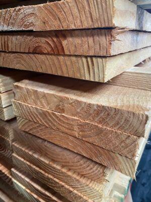 Douglas fijnbez plank 2,2 x 17,5 x 500 cm onbeh