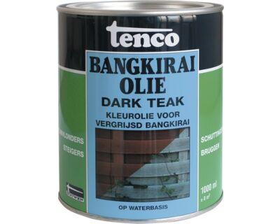 Tenco bangkirai olie waterbasis dark teak 1liter