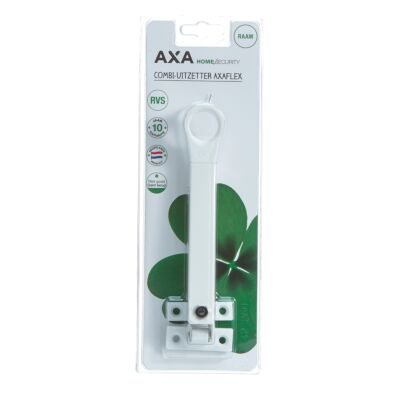 AXA combi-raamuitzetter rvs wit