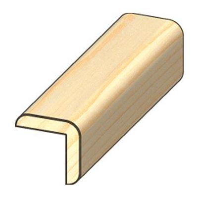 Grenen hoeklat afm 18x18mm lengte 270cm