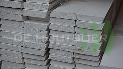 Grenen koplat-architraaf wit gegrond afm 12x45mm lengte 490cm