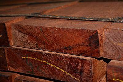 Hardhout funderingsbalk 50x200 400cm