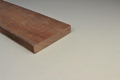 Hardhout ruw afm 20x200mm lengte 450cm