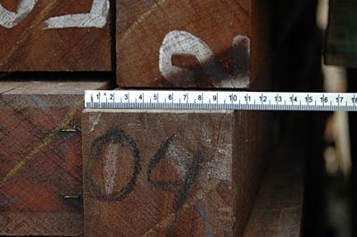 Hardhouten paal 100x100mm 400cm