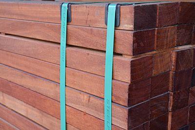 Hardhouten paal gepunt 60x60mm 350cm