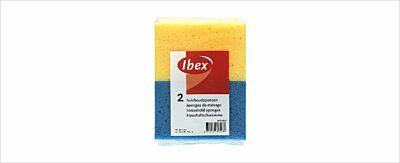 Huishoudsponsen blauw/geel 2 stuks