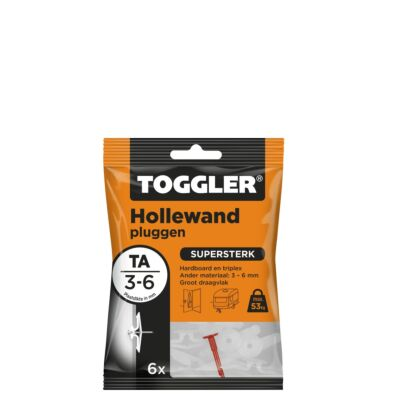 Hollewand plug TA 3-6mm 6st