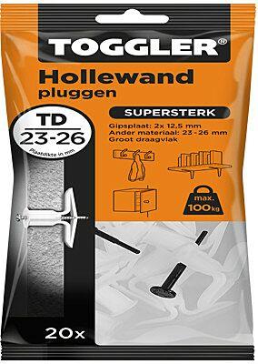 Hollewand plug TD 23-26mm 20st