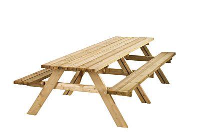 Picknicktafel extra lang maat 300x70cm