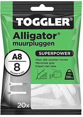 alligator plug A8 8mm 20st