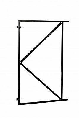 Stalen poortframe  verstelbaar 100x155cm zwart gepoedercoat