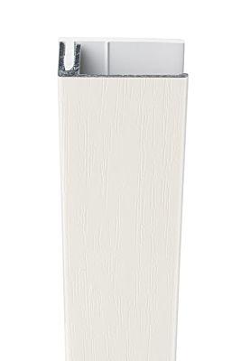 Profort Woodgrain eindprofiel 300cm wit