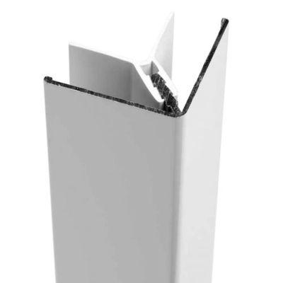 Profort Woodgrain hoekprofiel 300cm wit