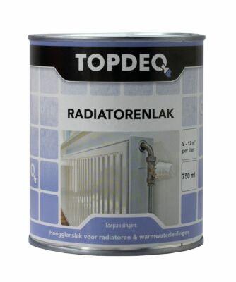 Topdeq radiatorenlak wit 0,75liter
