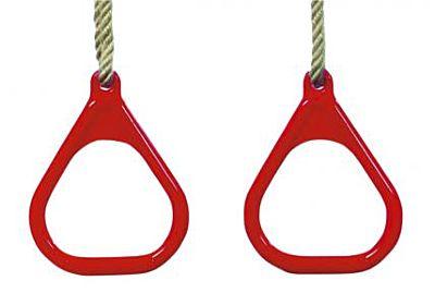 Ringenset driehoek kunststof rood