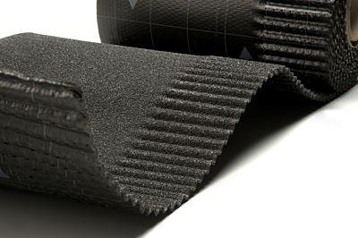 Ubiflex ribbel waterdichte laag 250mm rol 6m zwart